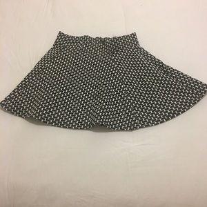 Checkered black and white school girl skirt